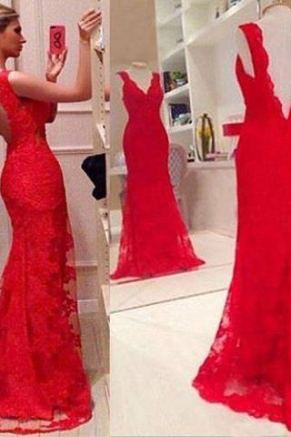2017 Charming Sleeveless Mermaid Prom Dress,Backless Evening Dress,Sexy Evening Party Dress