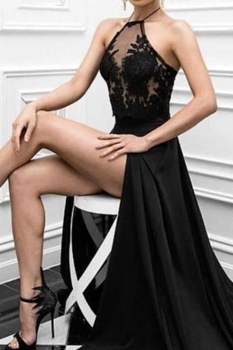 Black Prom Dresses 2018, Charming Prom Dress, Long Formal Evening Dresses exy Prom Dresses
