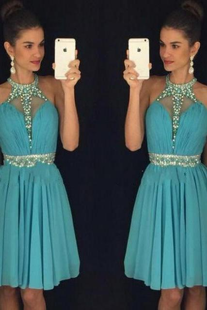 2016 New Fashion Short Prom Dress,Chiffon Prom Dress,Graduation Party Gowns