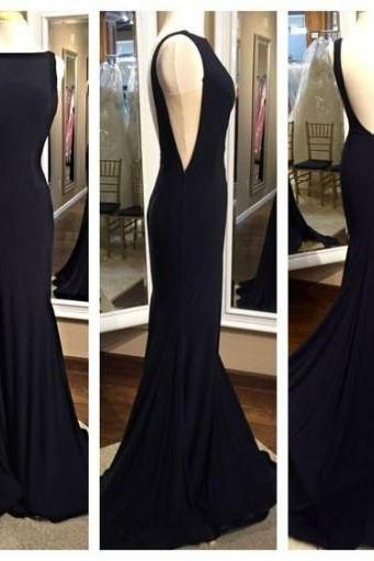 DoDodress-Black Prom Dress Backless Evening dress Spandex Party Dresses Prom Gown -2017